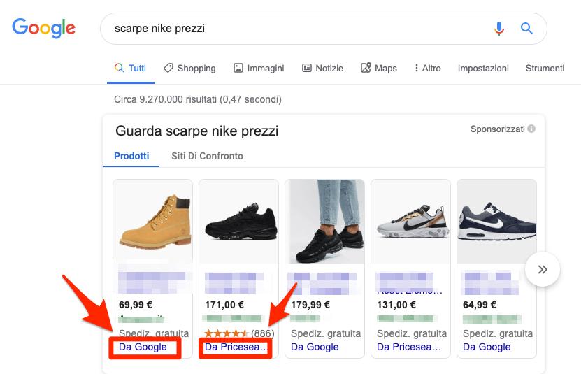 Servizi Shopping Comparativi