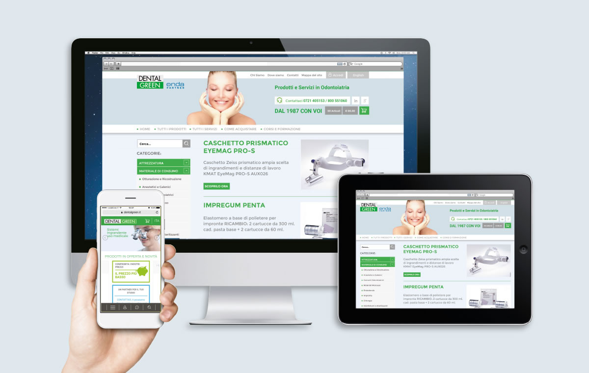 Dentalgreen sito e-commerce217