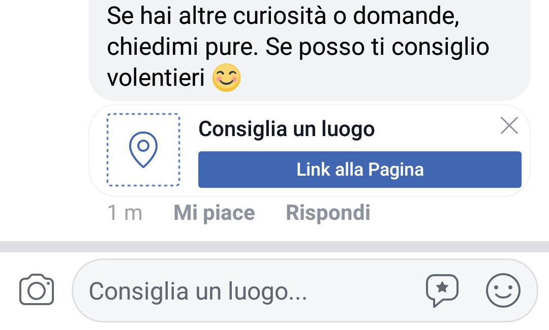 Facebook consigli luoghi e attività