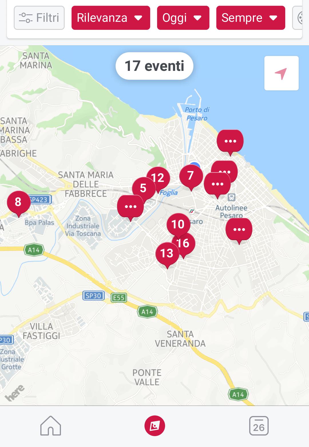Facebook local: come funziona app eventi